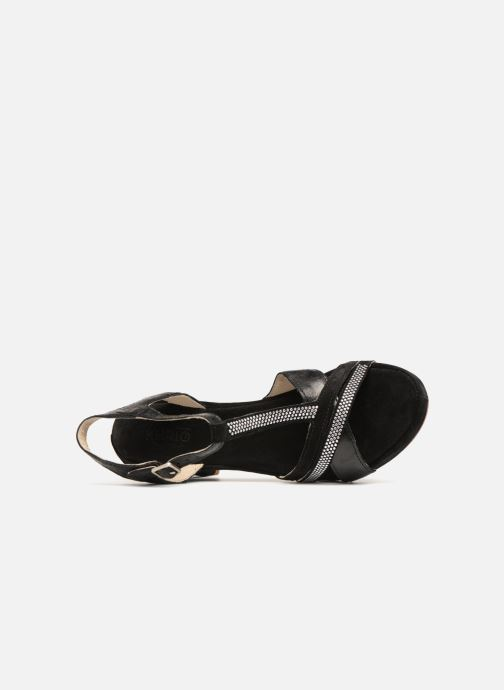 Sandales et nu-pieds Khrio Pila Noir vue gauche