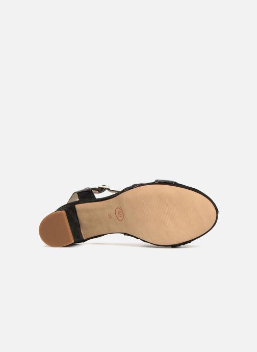 Sandales et nu-pieds Khrio Pila Noir vue haut