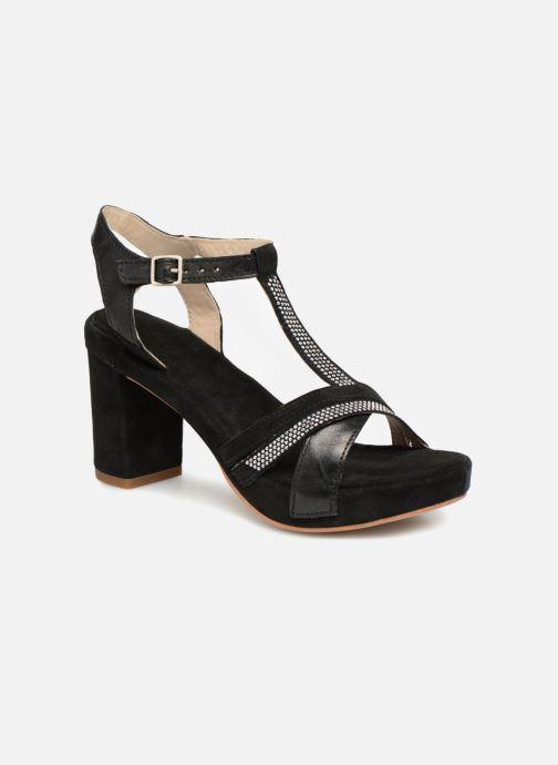 Sandales et nu-pieds Khrio Pila Noir vue détail/paire