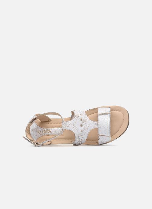 Sandales et nu-pieds Khrio Inferna Blanc vue gauche