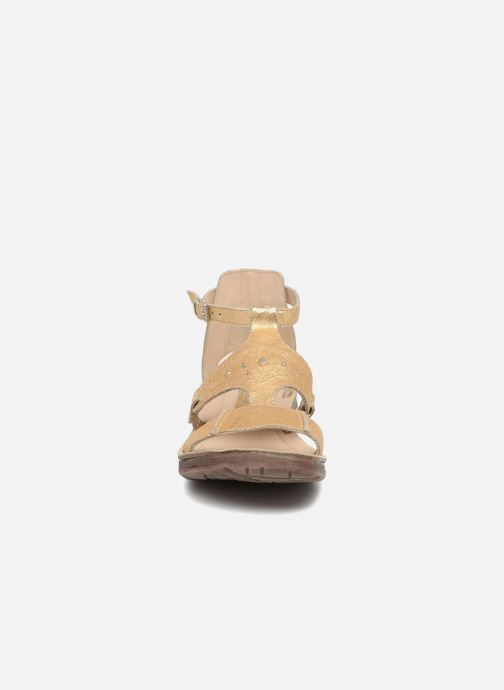 Sandales et nu-pieds Khrio Inferna Or et bronze vue portées chaussures