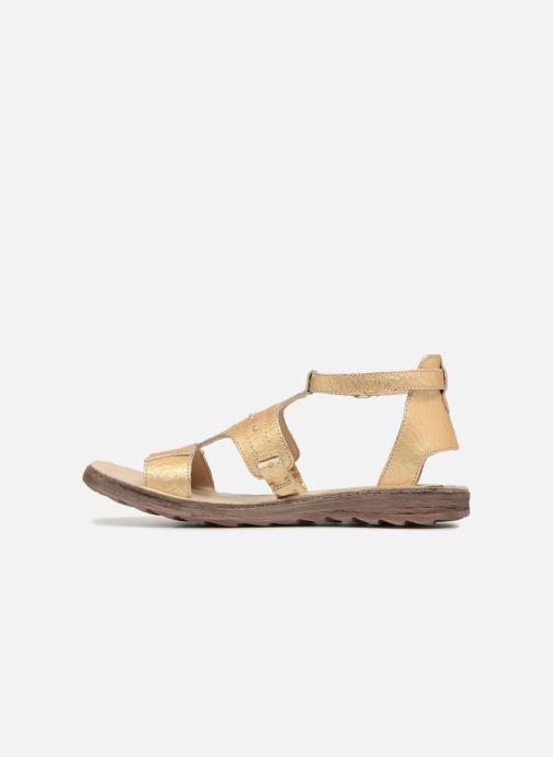 Sandales et nu-pieds Khrio Inferna Or et bronze vue face