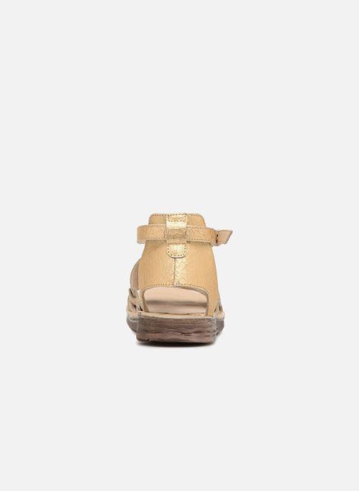 Sandales et nu-pieds Khrio Inferna Or et bronze vue droite