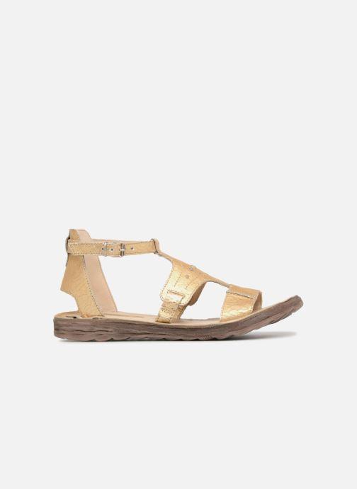 Sandales et nu-pieds Khrio Inferna Or et bronze vue derrière