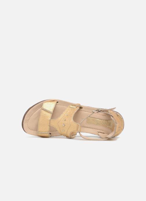 Sandales et nu-pieds Khrio Inferna Or et bronze vue gauche