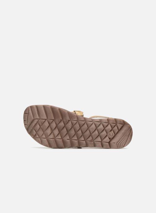Sandales et nu-pieds Khrio Inferna Or et bronze vue haut