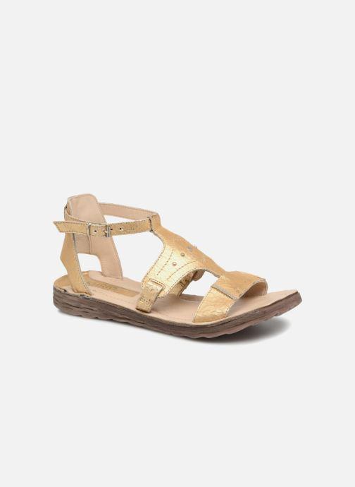 Sandales et nu-pieds Khrio Inferna Or et bronze vue détail/paire