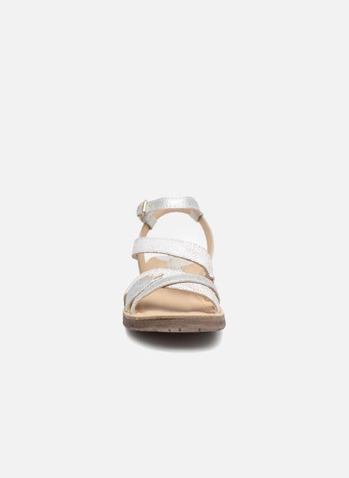 Sandales et nu-pieds Khrio Margareta Blanc vue portées chaussures