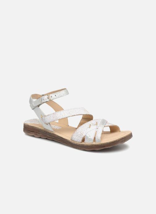 Sandales et nu-pieds Khrio Margareta Blanc vue détail/paire