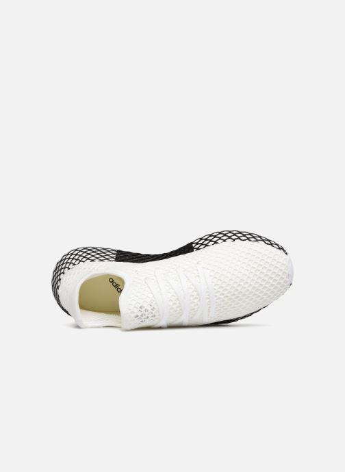 Sneaker Adidas Originals Deerupt Runner weiß ansicht von links