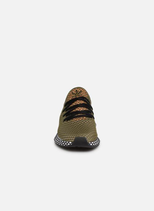 Baskets adidas originals Deerupt Runner Vert vue portées chaussures