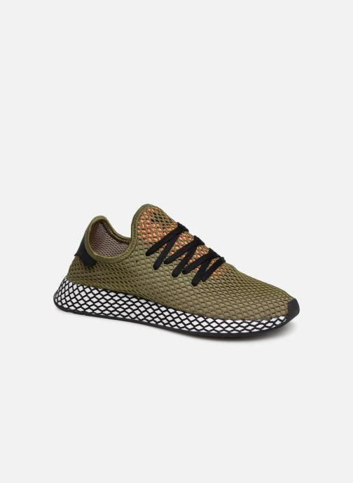 Baskets adidas originals Deerupt Runner Vert vue détail/paire