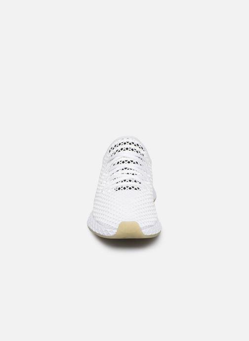 Sneaker adidas originals Deerupt Runner weiß schuhe getragen