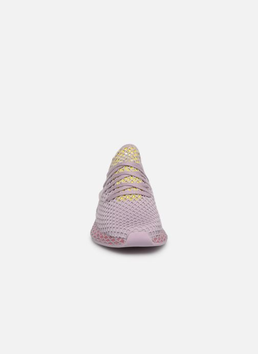 Baskets adidas originals Deerupt Runner W Violet vue portées chaussures