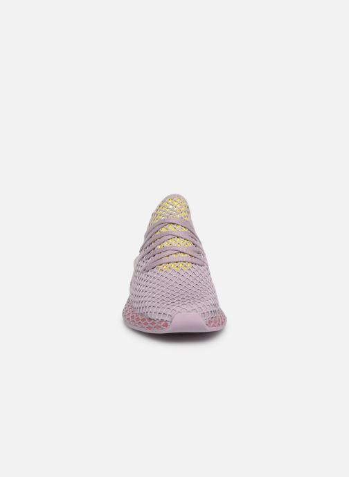 Sneaker adidas originals Deerupt Runner W lila schuhe getragen