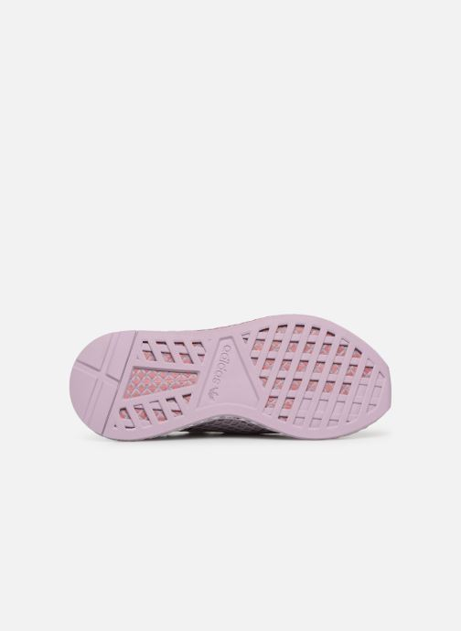 Baskets adidas originals Deerupt Runner W Violet vue haut