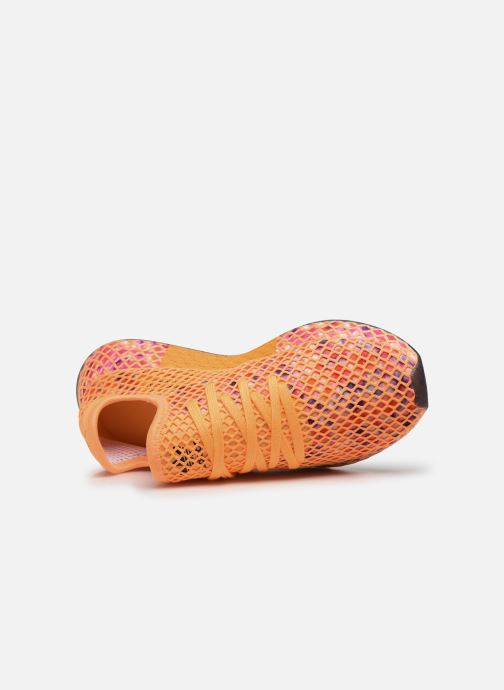Baskets adidas originals Deerupt Runner W Orange vue gauche