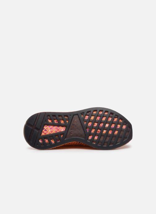 Baskets adidas originals Deerupt Runner W Orange vue haut