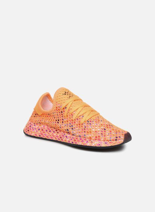 Baskets adidas originals Deerupt Runner W Orange vue détail/paire