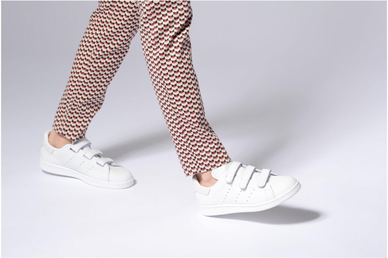 Baskets Adidas Originals Stan Smith Cf Blanc vue bas / vue portée sac