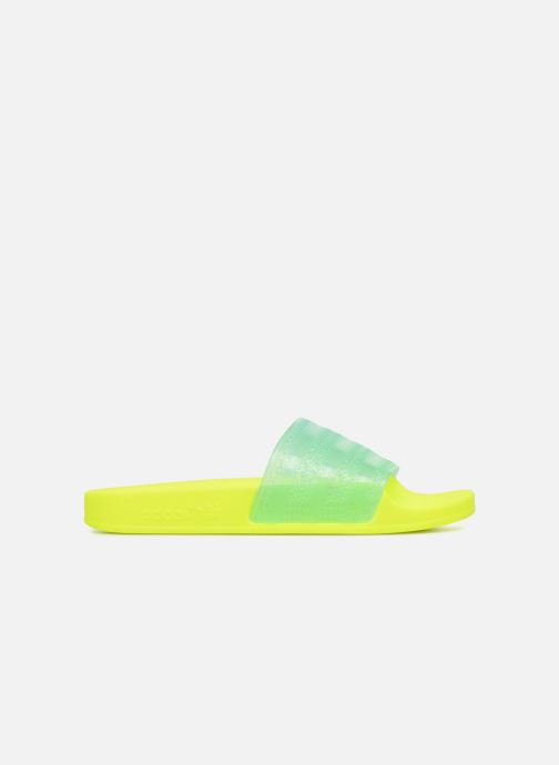 Mules & clogs Adidas Originals Adilette Lilo W Yellow back view