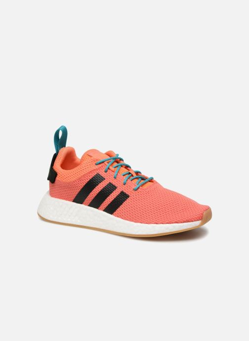 Baskets adidas originals Nmd R2 Summer Orange vue détail/paire