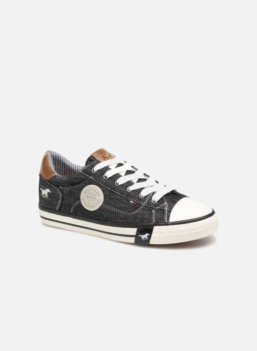 Baskets Mustang shoes Miro Noir vue détail/paire