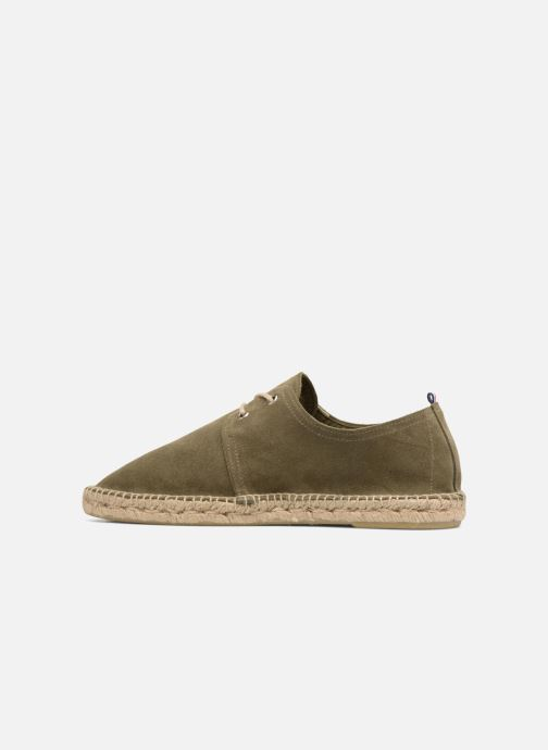 Espadrilles 1789 CALA Riviera Leather M Green front view