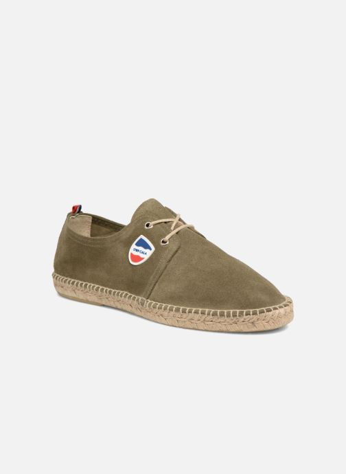 Espadrilles 1789 CALA Riviera Leather M Groen detail