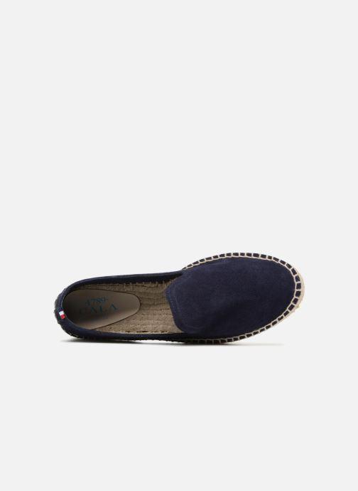 Espadrilles 1789 CALA Slip On Double Leather Bleu vue gauche