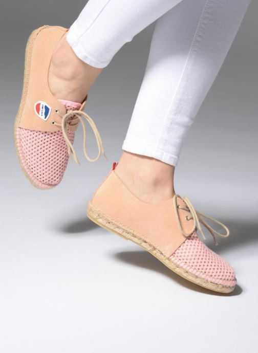 Espadrilles 1789 CALA Riviera Mix Leather W Rose vue bas / vue portée sac