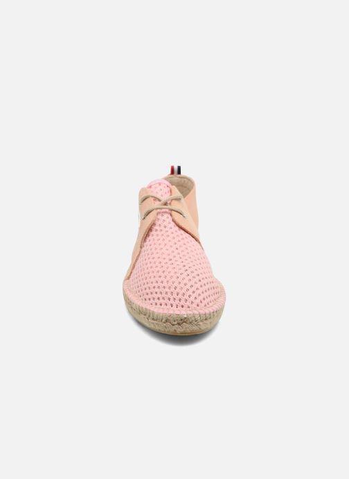 Espadrilles 1789 CALA Riviera Mix Leather W Rose vue portées chaussures