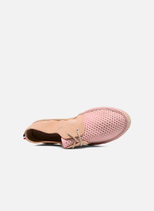 Espadrilles 1789 CALA Riviera Mix Leather W Rose vue gauche