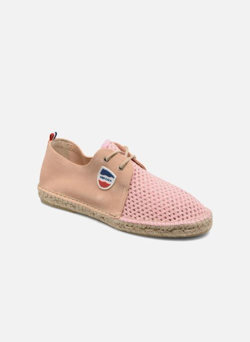 Espadrilles 1789 CALA Riviera Mix Leather W Rose vue détail/paire