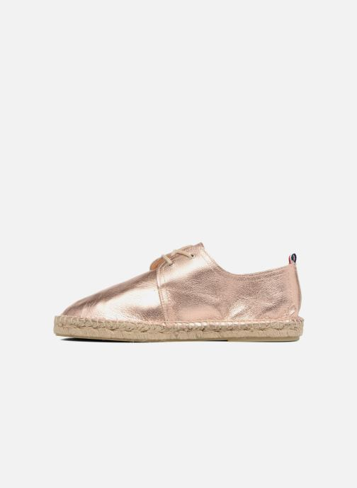 Espadrilles 1789 CALA Riviera Leather Metal Bronze and Gold front view