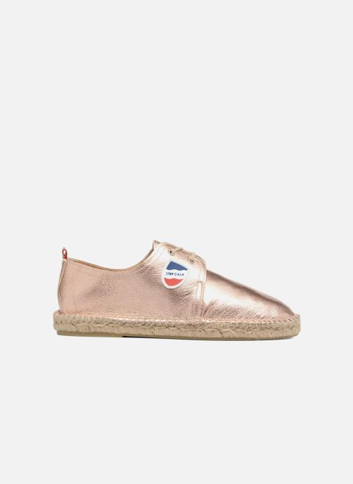 Espadrilles 1789 CALA Riviera Leather Metal Bronze and Gold back view