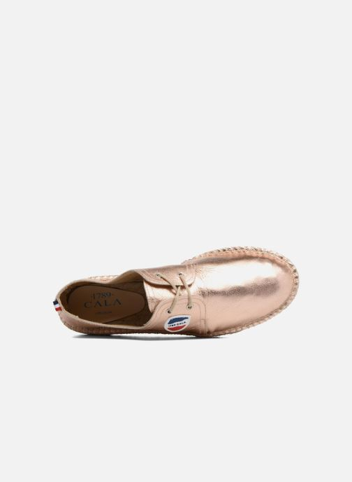 Espadrilles 1789 CALA Riviera Leather Metal Bronze and Gold view from the left