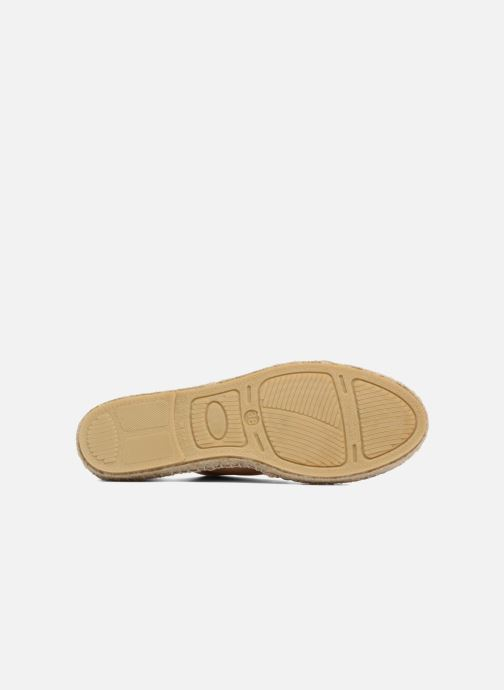 Espadrilles 1789 CALA Riviera Leather Metal Bronze and Gold view from above