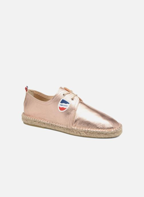 Espadrilles 1789 CALA Riviera Leather Metal Bronze and Gold detailed view/ Pair view