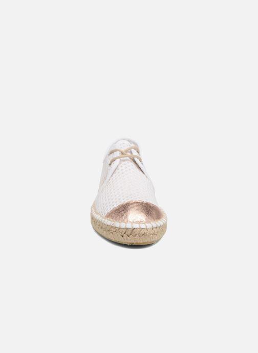 Espadrilles 1789 CALA Riviera Heritage Metal Blanc vue portées chaussures
