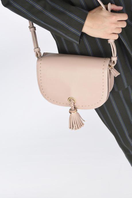 Handtaschen Georgia Rose Julia rosa ansicht von unten / tasche getragen