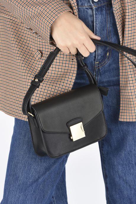 Handtaschen Georgia Rose Juliette schwarz ansicht von unten / tasche getragen