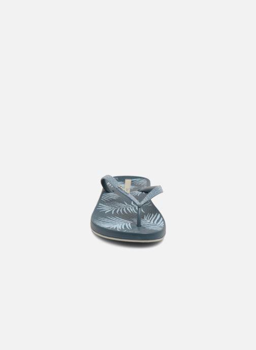 Tongs Ipanema Anatomic Nature II Bleu vue portées chaussures