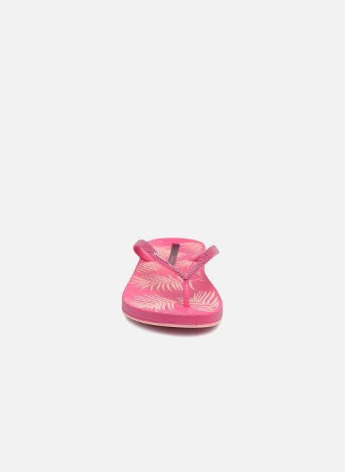 Tongs Ipanema Anat Nature II Rose vue portées chaussures