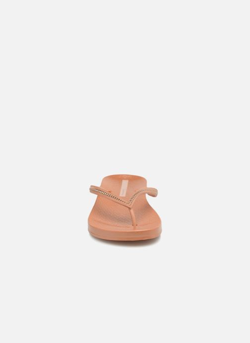 Tongs Ipanema Ana Metallic Marron vue portées chaussures