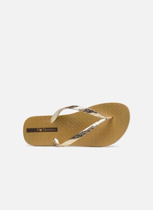 Chanclas Ipanema Glam Oro y bronce vista lateral izquierda