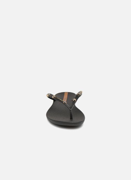 Tongs Ipanema Wave Glam Noir vue portées chaussures
