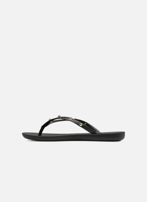 Chanclas Ipanema Wave Glam Negro vista de frente
