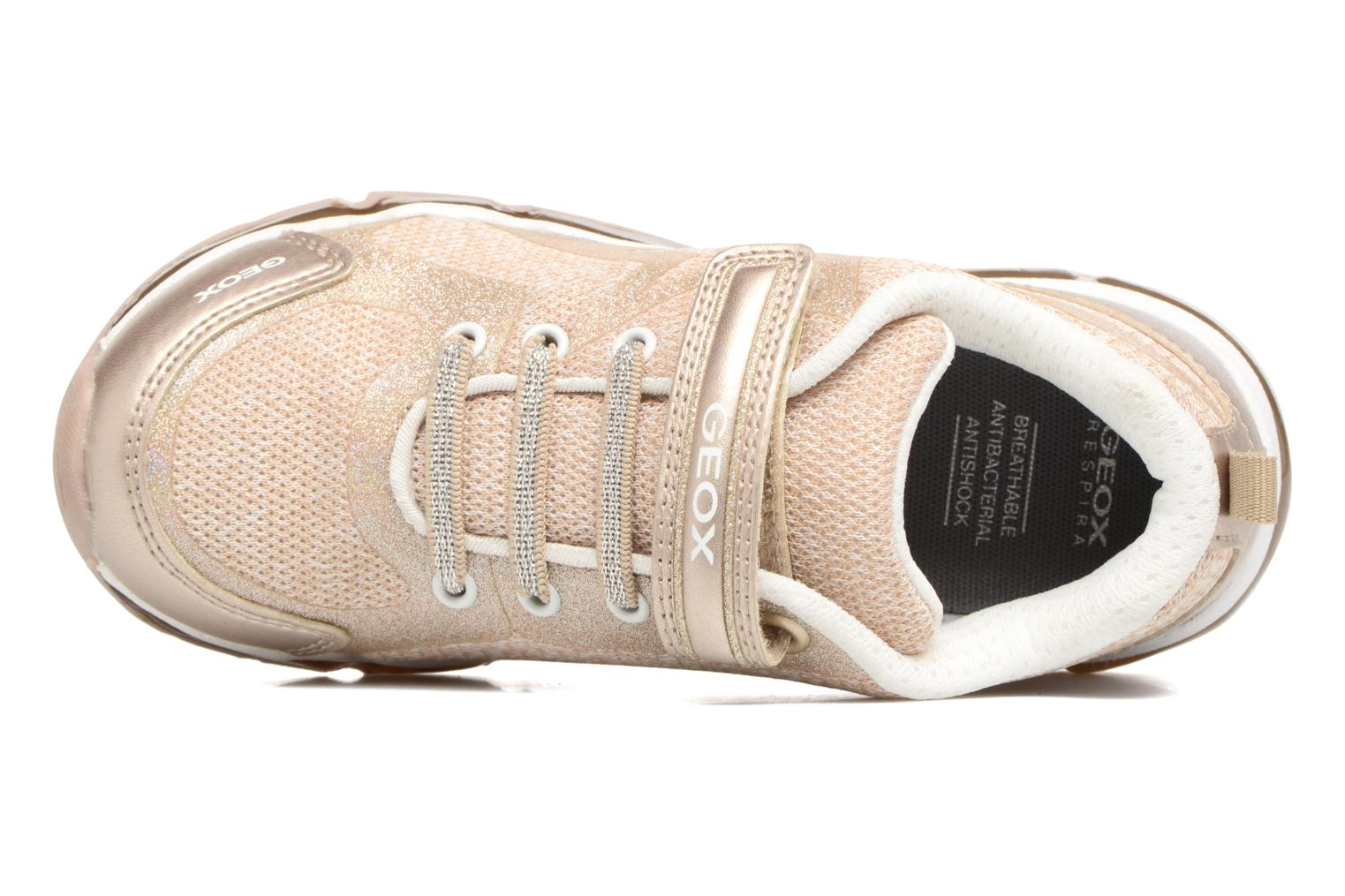 Sneakers Geox J Android G. B J8245B Oro e bronzo immagine sinistra