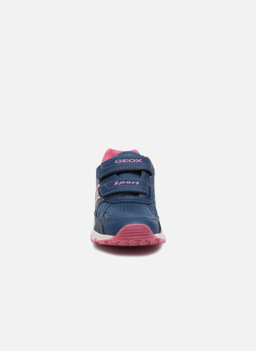 Baskets Geox J Bernie G. B  J8211B Bleu vue portées chaussures